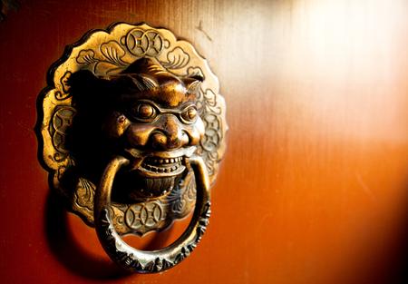 door knob: Lion head door knob Editorial