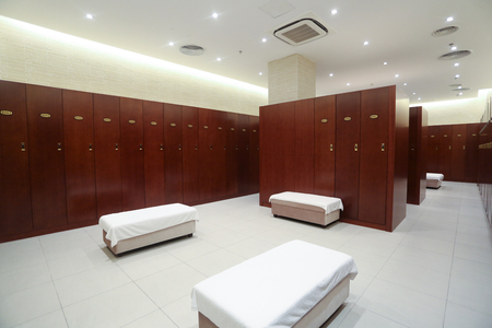 changing room: Hotel fitness changing room Editorial