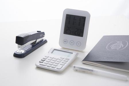 moderate: Still life of office supplies