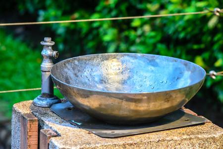 wash basin: Design wash basin in a park Stock Photo