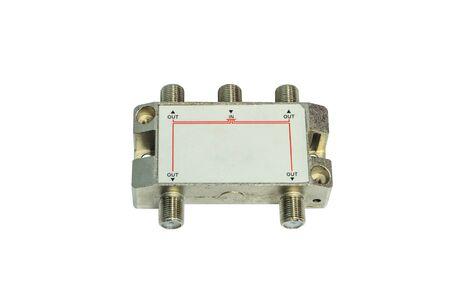 isolator insulator: telecommunication equipment on white background Stock Photo