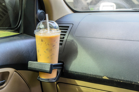 go inside: Coffee Cup Inside Car