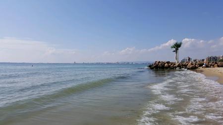 Black Sea shore in Bulgaria