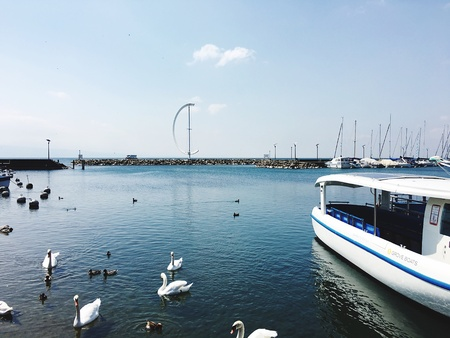 Lac leman in Lausanne