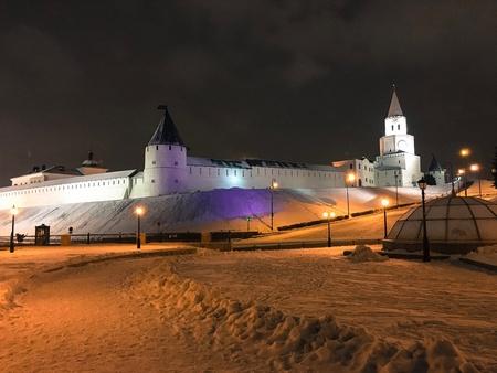 Night cityscape of Kazan