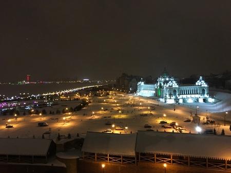 Night Kazan view