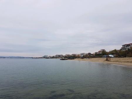 Black sea shore in Bulgaria Stock Photo