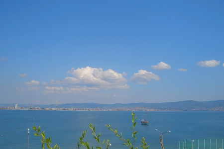 Sea shore in Nessebar, Bulgaria