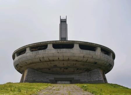 Monument to communism on mount Buzludzha in Bulgaria