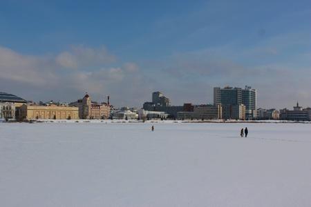 Winter cityscape of Kazan, Russia