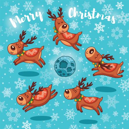 Carte de voeux de Noël. Vecteurs