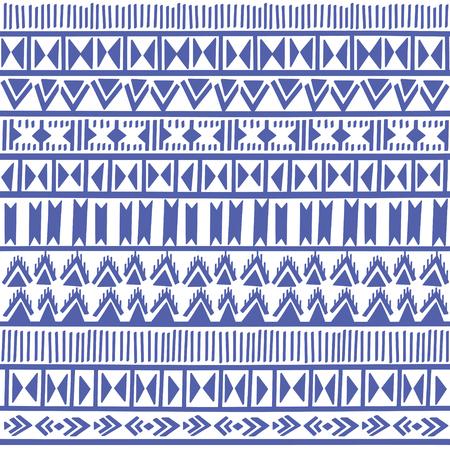 Geometric decorative seamless background. Monochrome abstract ethnic pattern. Illustration