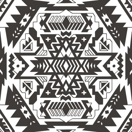 native american baby: Abstract geometric seamless pattern. Aztec style pattern with triangle and line. Illustration
