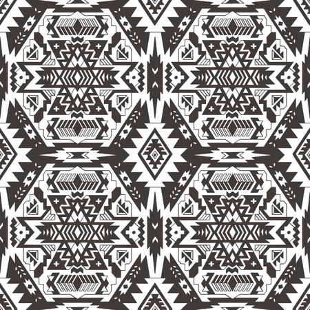native american baby: Abstract geometric seamless pattern. Aztec style pattern with triangle and line