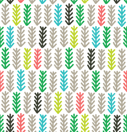 spruce: Modern pattern with fir branches. Vector illustration. Color spruce wallpaper
