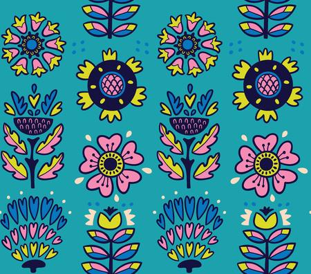 素晴らしいベクトル グラフィックのシームレスなパターンは、葉し、花します。青いベクトルの背景。明るいイラストは、カード、結婚式、壁紙とテキスタイルの招待カードを作成するために使用できます。 写真素材 - 55718157