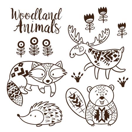 Los Animales Del Bosque Dibujos Para Colorear Para Los Niños ...