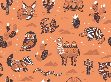 Pattern with desert animals