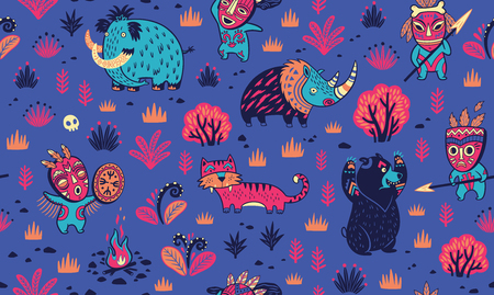 Stone Age vector pattern