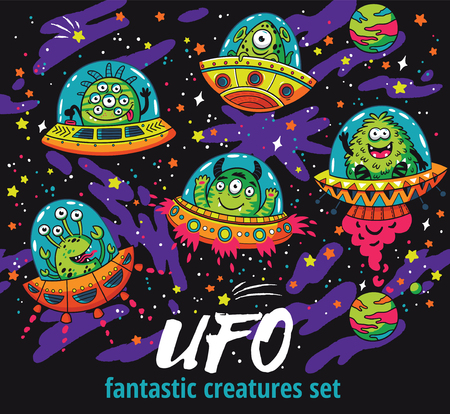 Fantastic creatures set in the galaxy