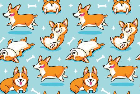 Patrón transparente de perros felices