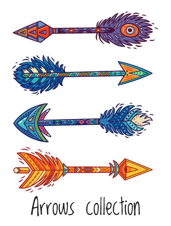 Indian ethnic arrows. Vector illustration