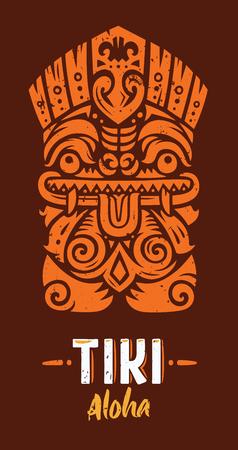Tiki totem mask Illustration