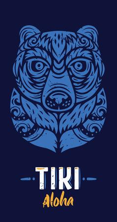 Bear totem mask