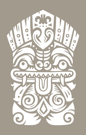 Tiki totem mask Illustration