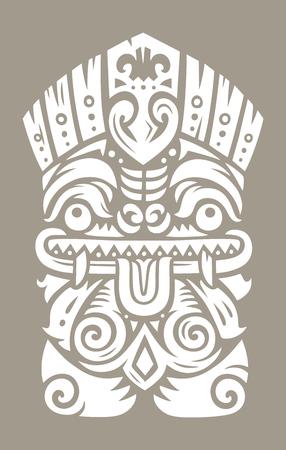 Tiki totem mask Ilustrace