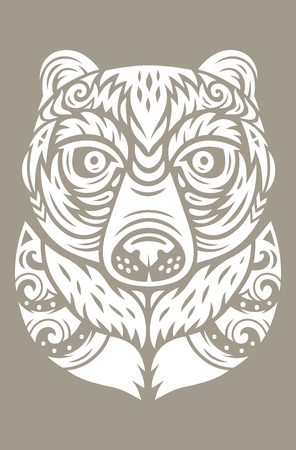 Masque totem ours