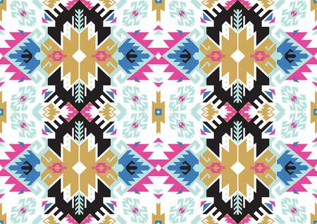 ボヘミアンスタイルのベクターイラストで部族トルコのシームレスなパターン。