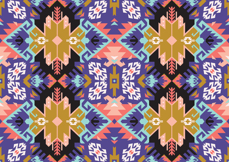 Tribal Turkish seamless pattern in bohemian style vector illustration.