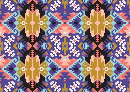Stammes- türkisches nahtloses Muster in der böhmischen Artvektorillustration. Standard-Bild - 95928107