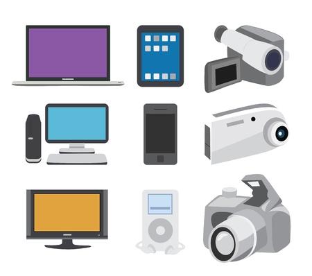 Electronics Icon Set Stock Vector - 21067794