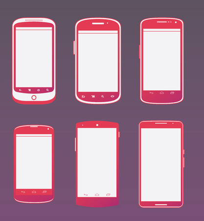 editorial: Vector set the Nexus cell phone comparison. Editorial use only.