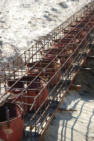 armature: Metal beach building construction, tanks and armature