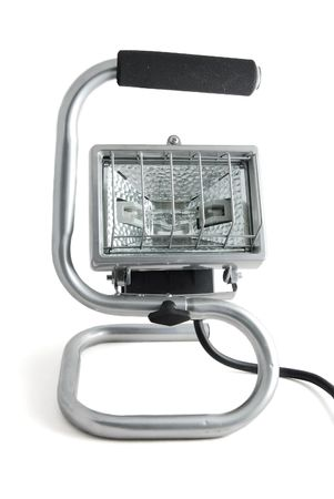 silvery: Halogen projector. Object is isolated on a white background.