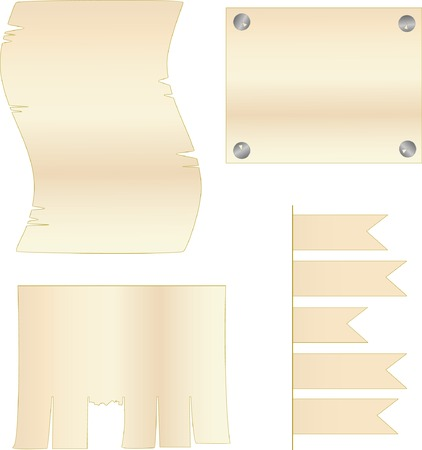 blanks: Vector blanks for inscriptions of light brown colour
