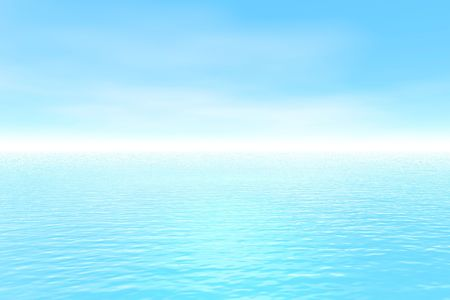 Blue nature landscape is executed in the 3D-editor