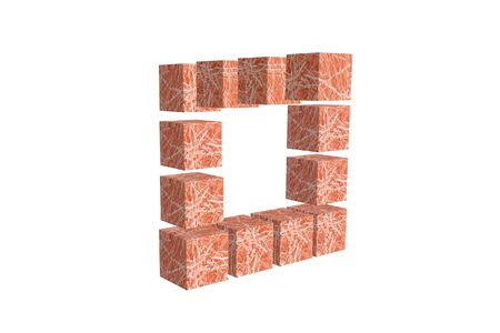 nonexistent: The cubes of pink colour, are forming the big square Stock Photo