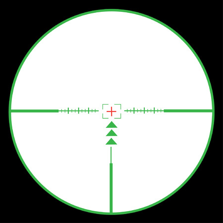 reticle: The vector weapon sight of green and white colors