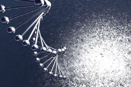 Mol�cula de ADN, se est� ejecutando en el editor de 3d  Foto de archivo - 5883163