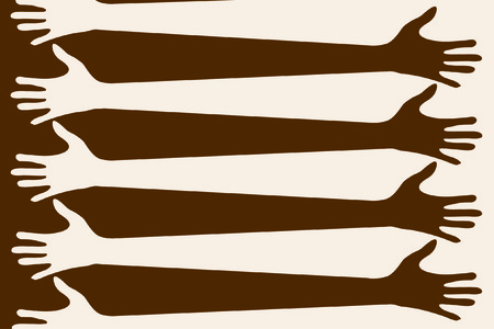 The hands of brown and beige colour Stock Vector - 8023101