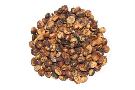 Kopi Luwak grain, is isolated on a white background
