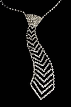 Tie from jewels on a black background