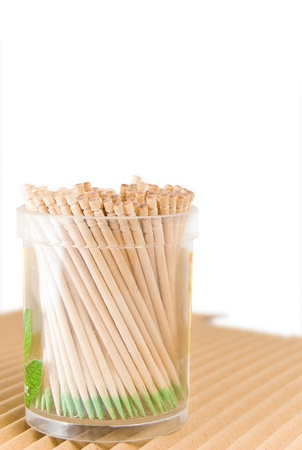 Toothpicks, is isolated on a white background Stock Photo - 8552181