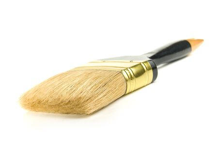 Painting brush, is isolated on a white background Stock Photo