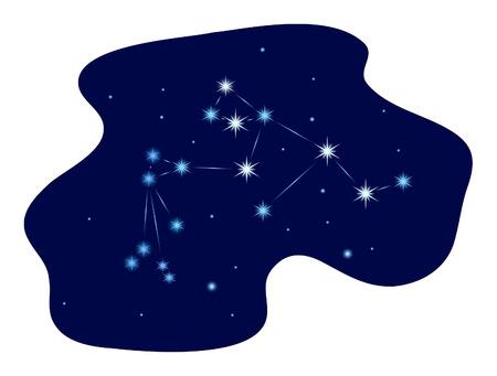 constellation de le Verseau sur le ciel �toil� Illustration
