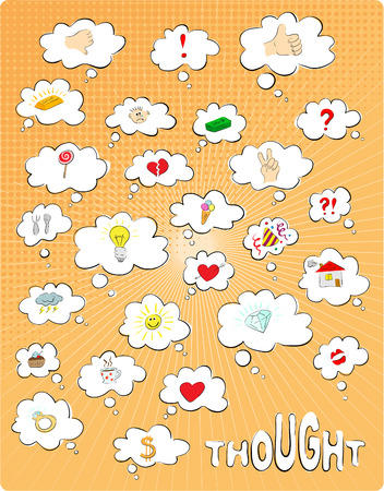 The set of colour thought bubbles Stock Vector - 8631549